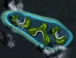 Floating Maldives Golf Course