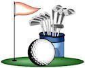 Golf Ball and Bag
